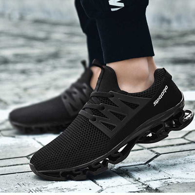 Shock absorbing breathable elastic casual shoes