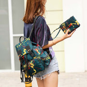 2020 new nylon graffiti Korean style women's backpack
