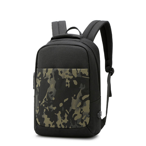 New Trendy Schoolbag Travel Anti-theft Backpack Charging Men's Fashion Backpack Casual Computer Bag