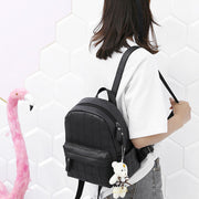 2020 New PU Leather Trend College Style Fashionable Women's Backpack