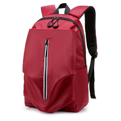 New polyester student schoolbag female Korean campus student backpack simple male backpack travel leisure bag