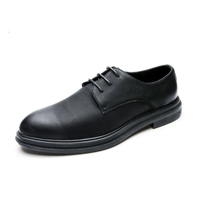 Black autumn and winter new British trend business tie casual men's shoes