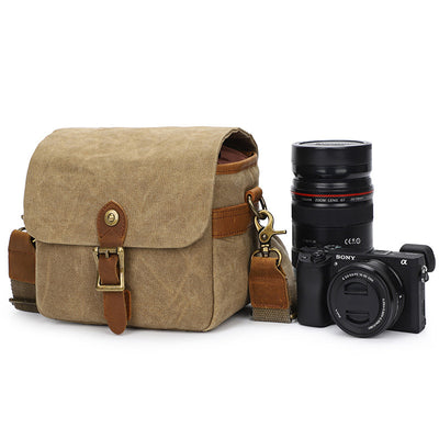 Canvas SLR photography bag one shoulder camera bag SONY A6000 A7R waterproof camera bag