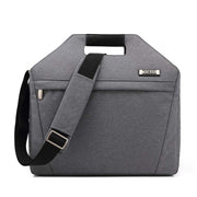 Stylish men's wear-resistant computer bag waterproof notebook handbag casual simple document diagonal cross-body bag