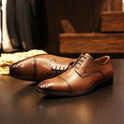 New lace-up men's business dress shoes British retro men's leather shoes