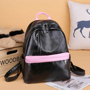 2020 new retro style PU leather solid color women's backpack