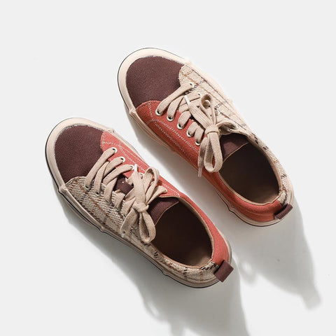 2019 new casual color matching canvas shoes flat bottom shoes