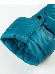 Winter new European and American style A word short section light and thin warm high collar down jacket