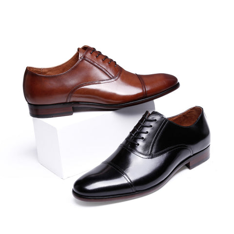 New business dress men's shoes leather lace-up British style wear-resistant outsole