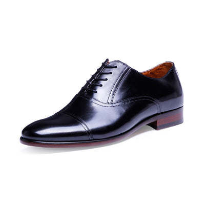 Classic hot sale high-end formal dressing hand-washing process plus size men's leather shoes