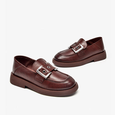 Autumn 2020 low-heel elegant leather shoes loafers