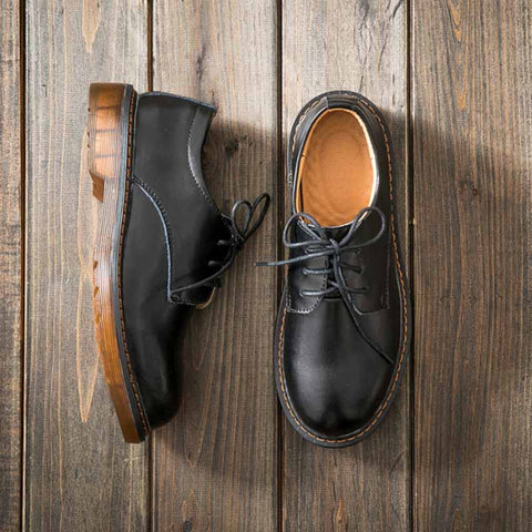 2019 new retro Japanese college style small leather shoes
