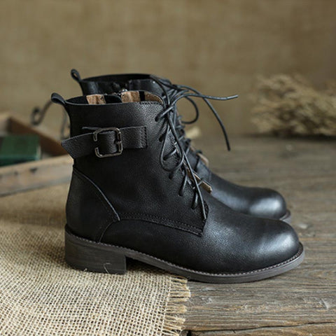 2019 autumn new style with boots leather tube Martin boots