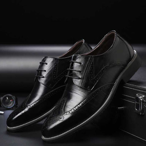 Casual bullock lace-up men's shoes