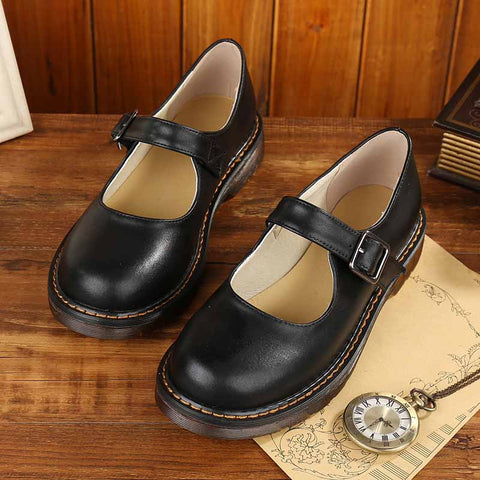 2019 new Japanese college style handmade art retro women's shoes