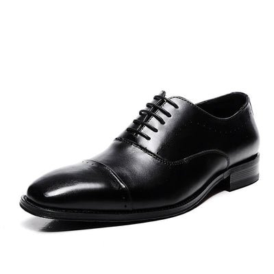 New business dress single shoes leather casual gentleman men's shoes