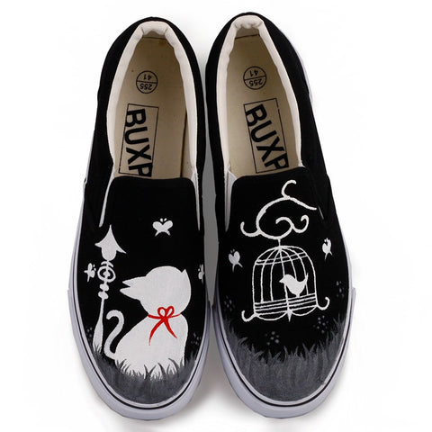Hand-painted doodle lightweight casual shoes