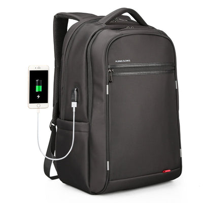 New casual USB rechargeable backpack business computer backpack
