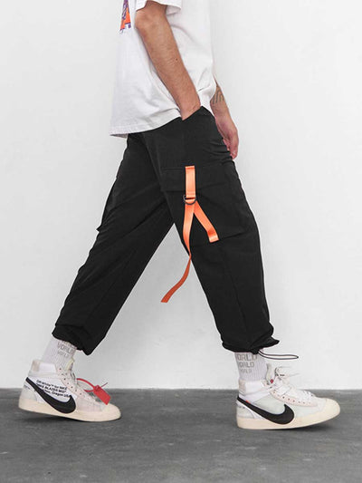 Multi-bag buckle adjustable Drawstring men's casual pants