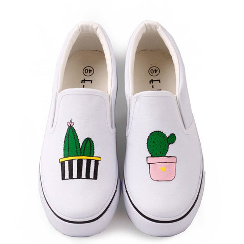 Hand-painted comfortable canvas tide shoes