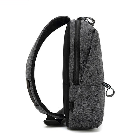 New Retro Men's Chest Bag Casual Shoulder Messenger Bag Outdoor Sports Oxford Waterproof Waist Bag