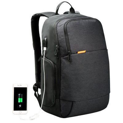 New Casual USB Rechargeable Waterproof Laptop Bag Backpack Anti-Theft Backpack