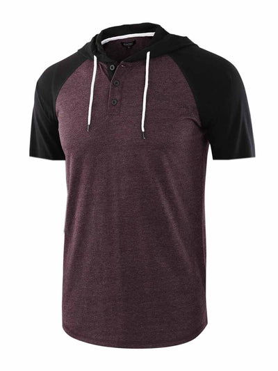Men's Short Sleeve Hooded Sports T-Shirt