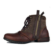 Vintage autumn and winter trend high to help leather Martin boots