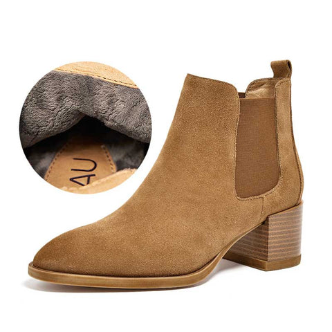Leather Chelsea Boots Women's British Wind Women's Shoes Thick with Matte Leather Platform and Ankle Boots