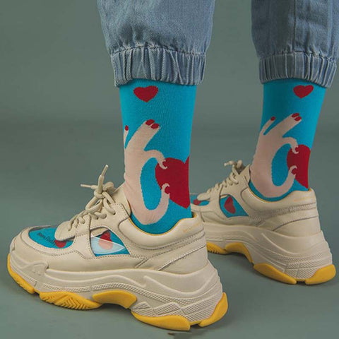 2019 in the tube cartoon printing sports cotton socks