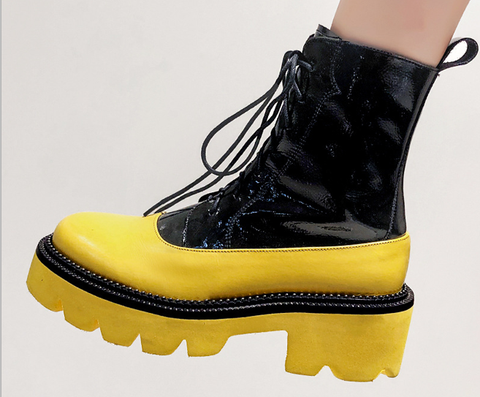 2019 new color matching muffin bottom street punk wind Martin boots