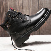 2019 winter new men's casual leather wool warm Martin boots