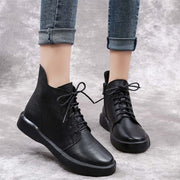 Autumn and winter new suede flat England style casual retro Martin boots