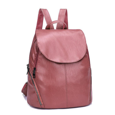 2020 new PU fashion casual candy color women's backpack