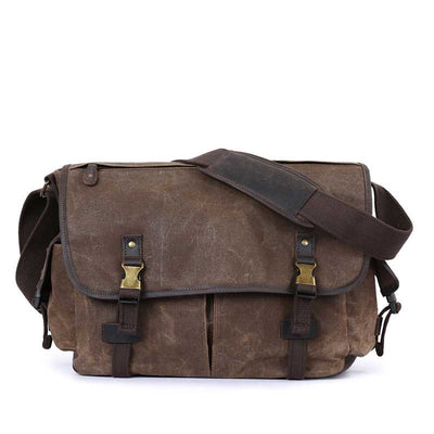 Men's Buckle Vintage Crossbody Canvas Shoulder Bag