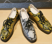 Autumn new snakeskin pattern leather shoes