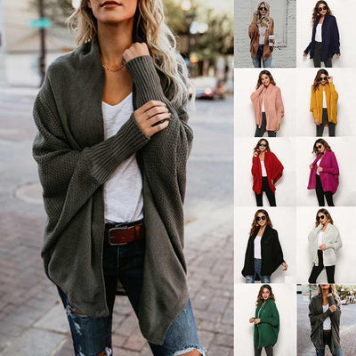 2019 winter new style sweater sweater cardigan plus size women's Coat