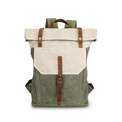 Color matchingTravel Vintage Wax Canvas Backpack