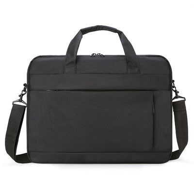 New soft solid color business men's laptop bag