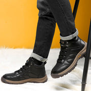Winter new wool warm and velvet thickened high-top men's snow boots