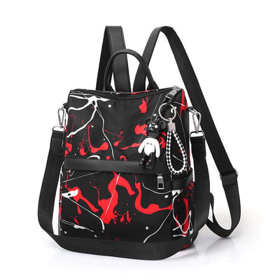 2020 new graffiti style personality fashion popular simple Oxford cloth women's backpack