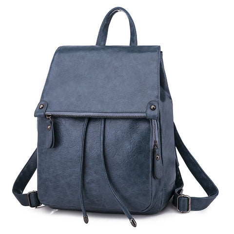 2020 New PU Leather Trend College Style Women's Backpack