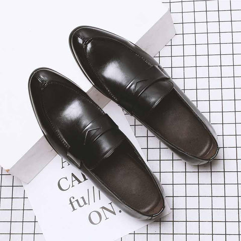 Breathable business casual work dress men's shoes