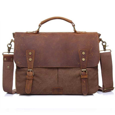 Vintage one shoulder laptop bag