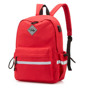 2020 new soft face pure color casual backpack women's schoolbag