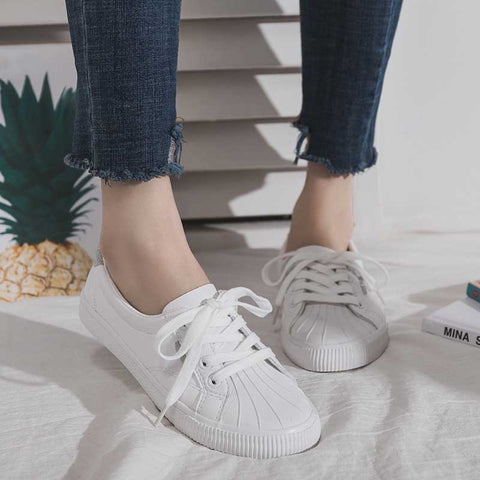 Casual wild foundation flat shallow white shoes
