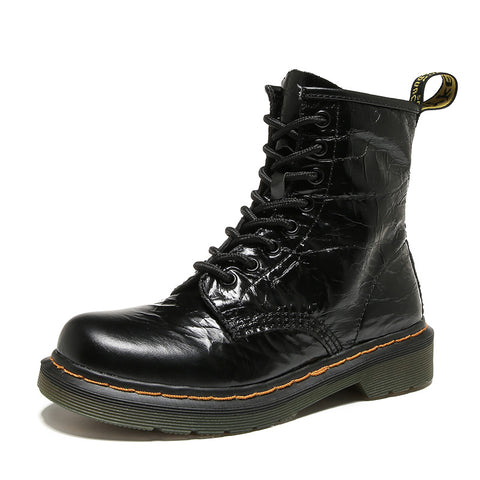 New autumn and winter British leather matte Martin boots