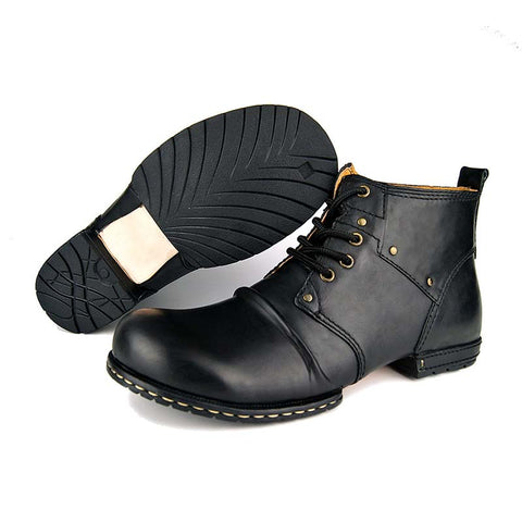Leather retro trend high help tooling Martin boots men's boots