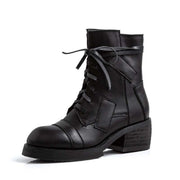 New solid color strap casual women's locomotive Martin boots