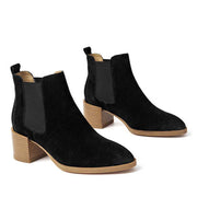 Autumn and winter new European and American leather Chelsea boots women's boots